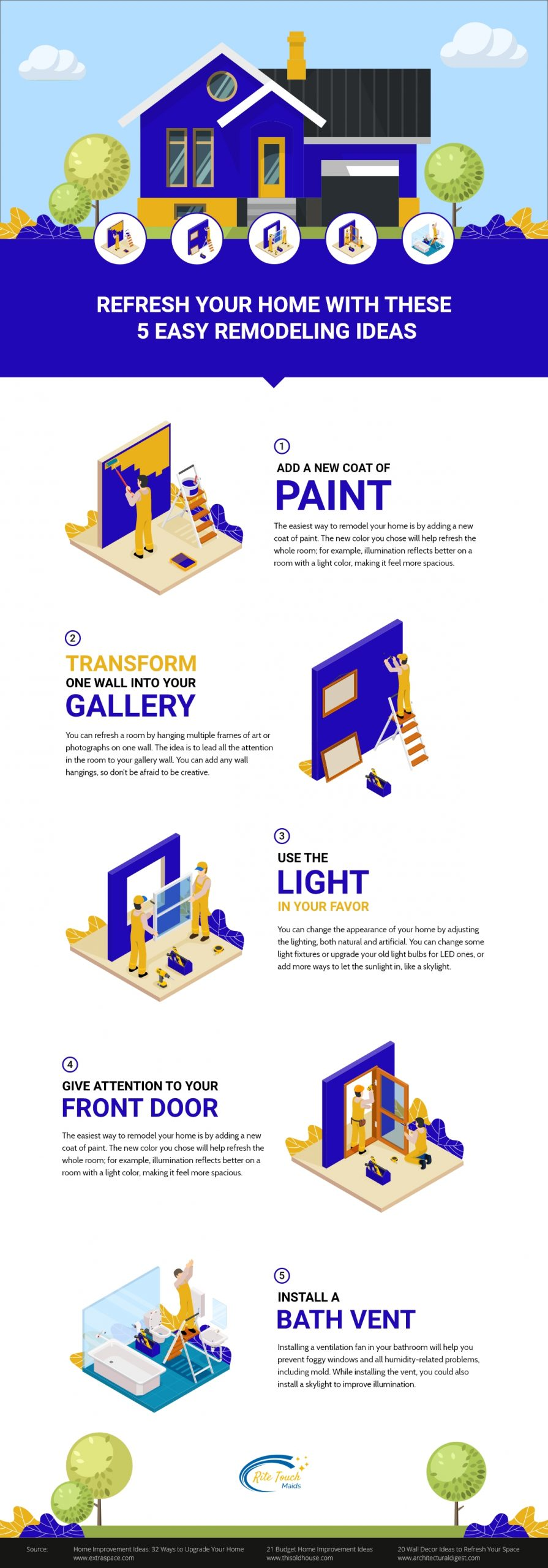 5 Easy Remodelling Ideas Infographic